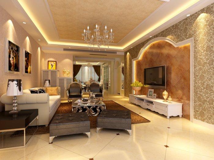 家装客厅装修设计3D模型下载