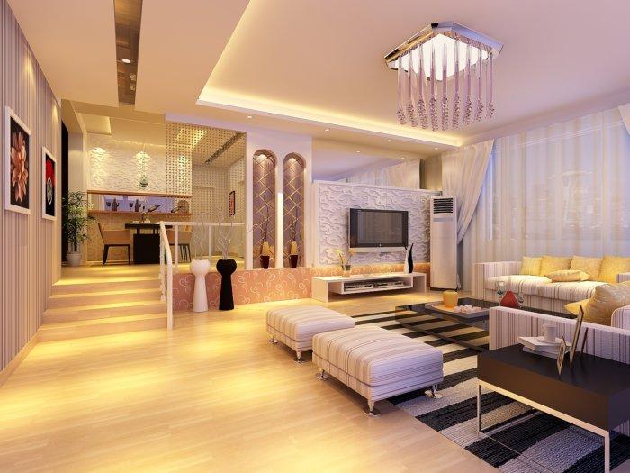 家装下沉式客厅效果图图片