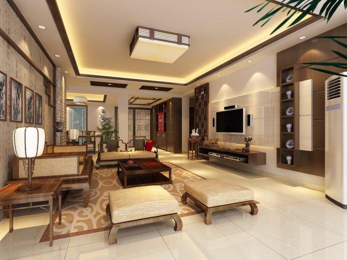 家装中式客厅效果图