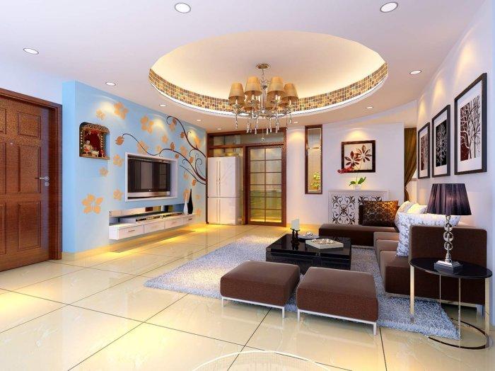 客厅手绘电视背景墙效果图-3d模型库-3d侠3d模型下载