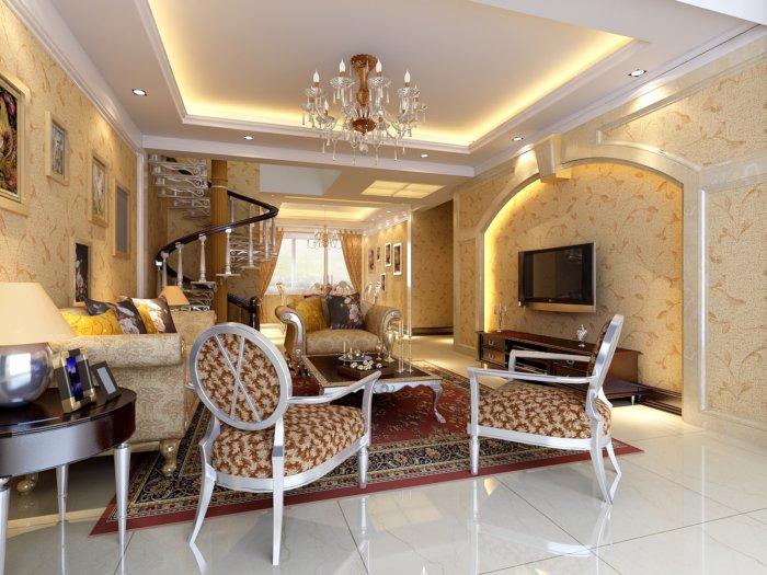 楼中楼欧式家居客厅效果图图片