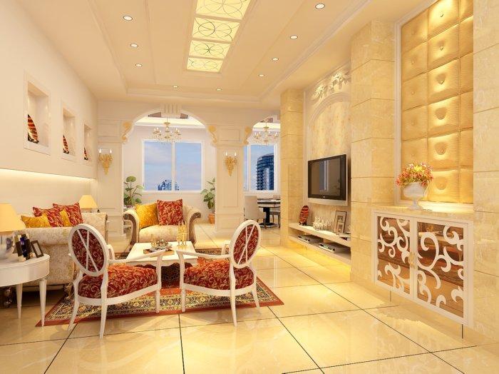 欧式客厅设计图