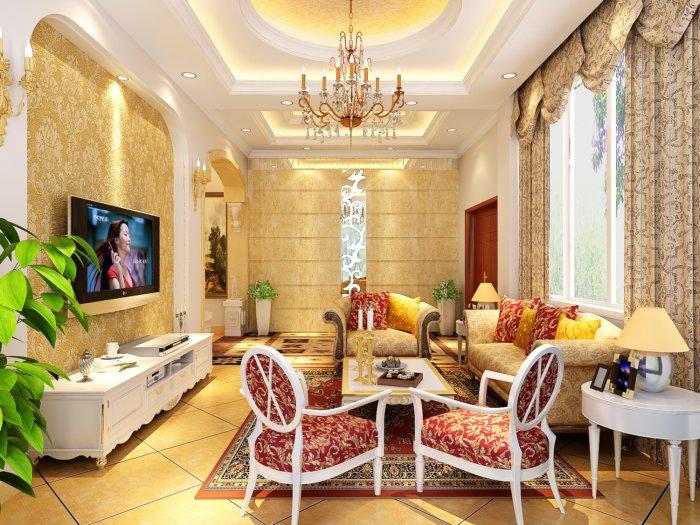 欧式客厅装饰效果图