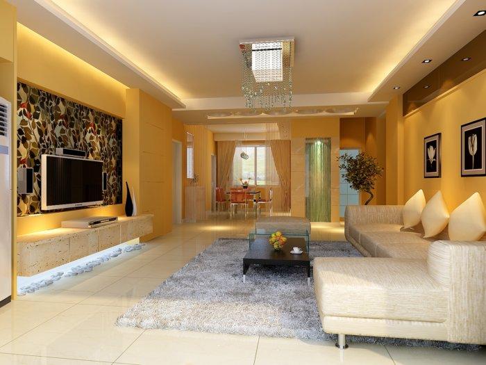 最新客厅装修图片渲染效果图片