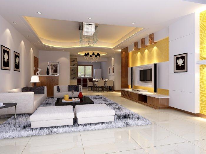 2013家装客厅吊顶装修设计效果图 高清图片