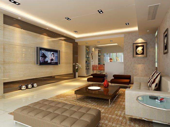 2013家裝客廳設計3d模型渲染效果圖片