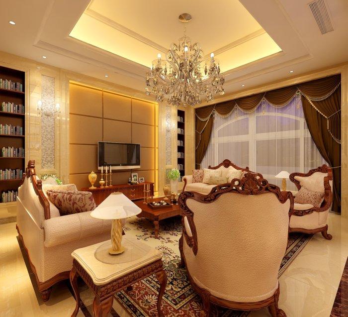 3d欧式客厅设计效果图