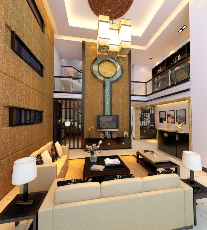 别墅电视背景墙效果图
