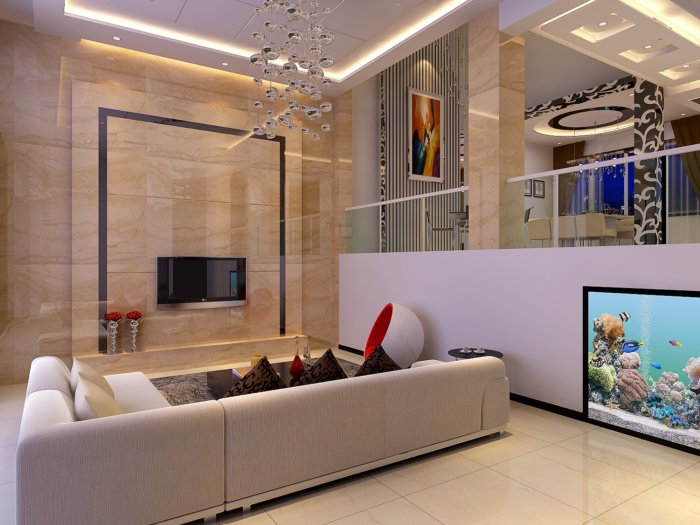 家居客厅效果图素材免费下载,本作品主题是别墅客厅电视背景效果图,编