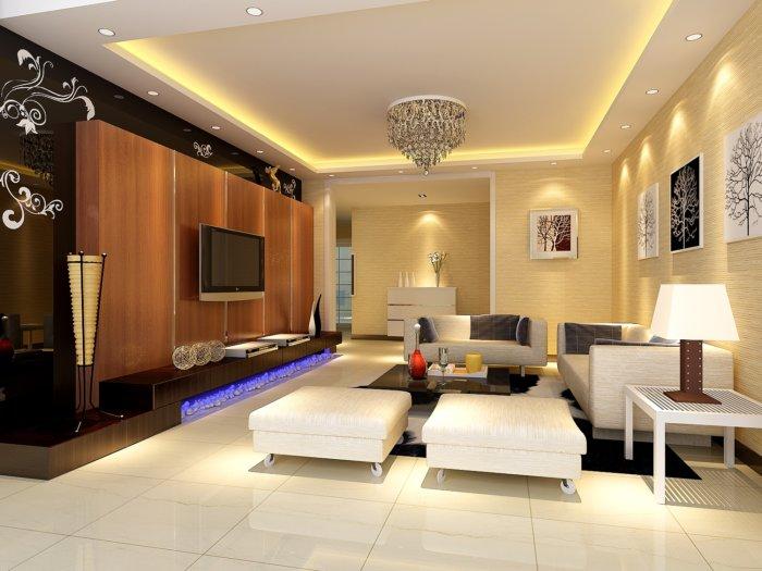 房屋客厅装修果图渲染效果图片