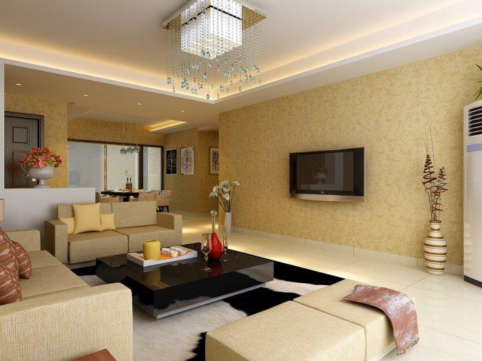 房屋客厅装修设计效果图3d模型【id:41389】