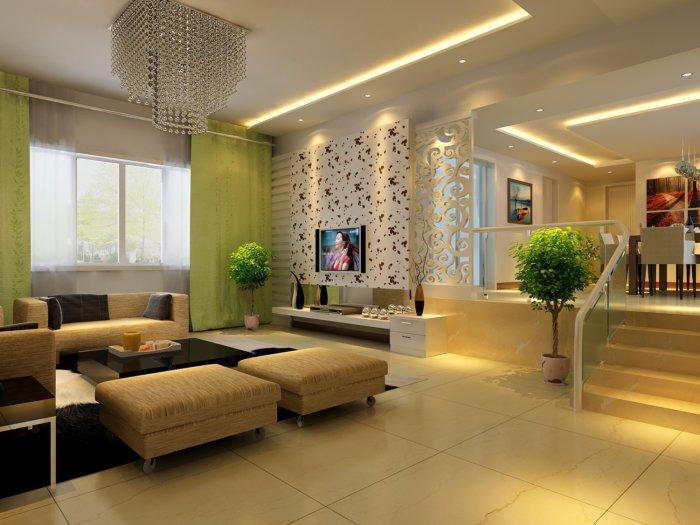家居客廳裝修設計效果圖渲染效果圖片
