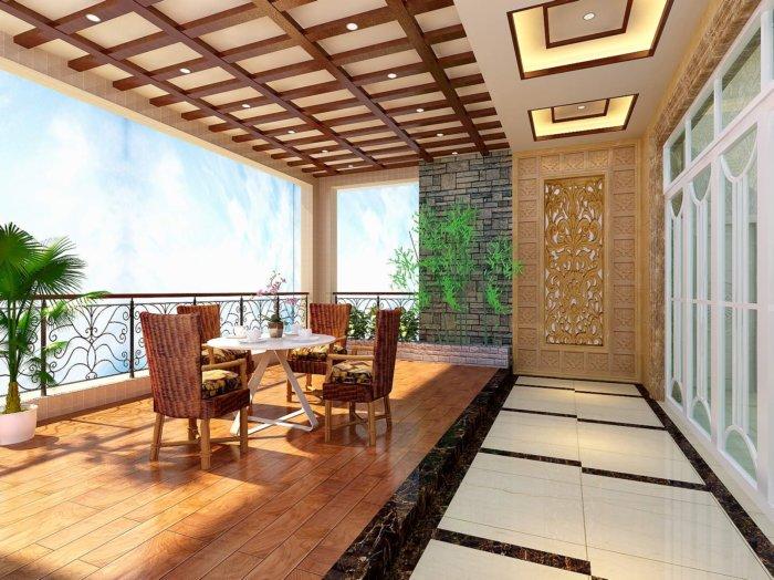 阳台休闲区3d模型