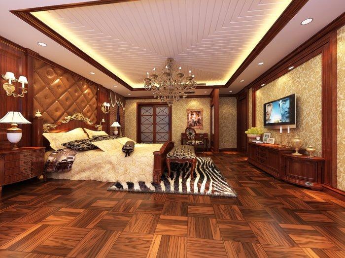豪华欧式卧室设计效果图
