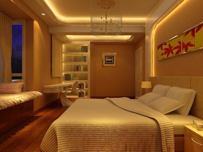 简约卧室设计图片渲染效果图片