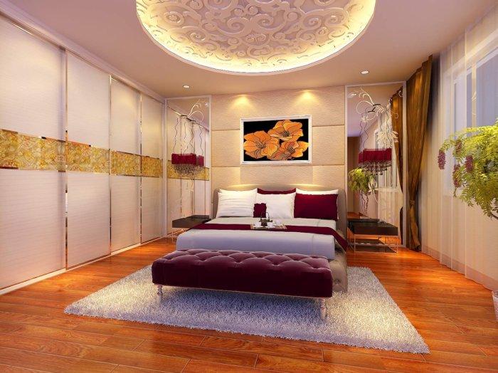 卧室吊顶装修图片渲染效果图片