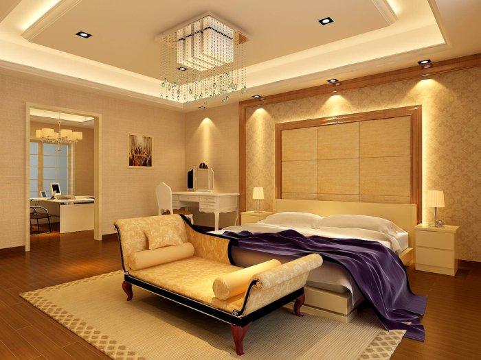 卧室吊顶装修效果图-3d模型库-3d侠3d模型下载网