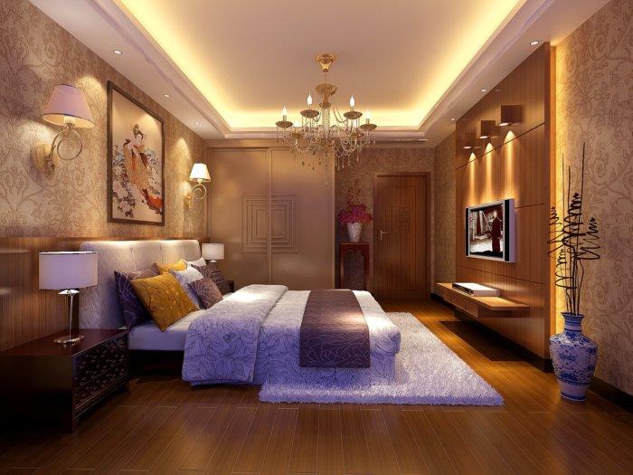 卧室衣柜设计图渲染效果图片