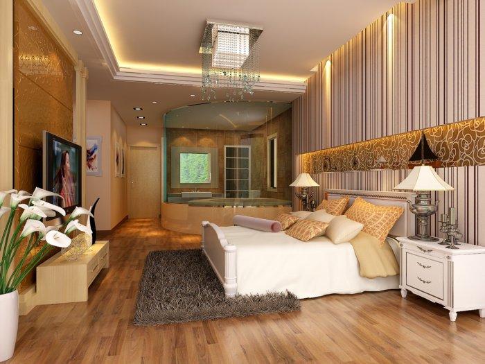卧室浴室设计图片3d模型【id:41659】图片